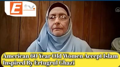 """Photo of The American Woman converted to Islam inspired by the drama """"Ertugrul Ghazi"""""""